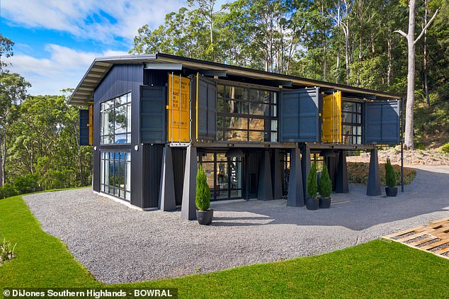 Want to stay here? Larry Emdur and his wife Sylvie have listed their stunning $2.15M shipping container home as an eco-friendly holiday rental