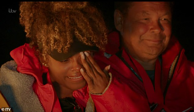 At last!Fleur East struggling to contain her emotions on Friday as her team were finally crowned winners on the final episode of Don't Rock The Boat