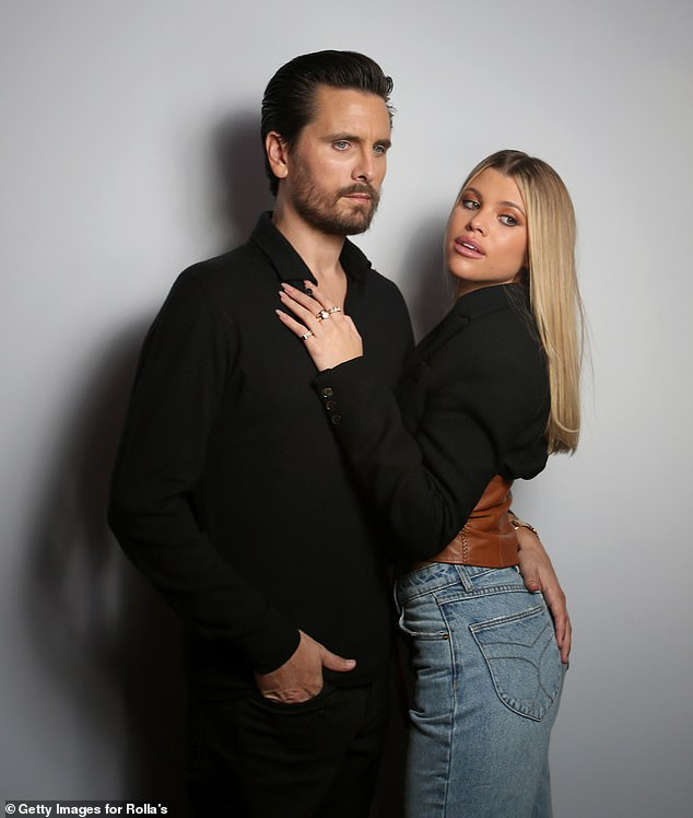 Former flame:Prior to Morton, Richie was in a three year relationship with Talentless founder Scott Disick, 37, that ended 'for good' in August; Scott and Sofia pictured in February