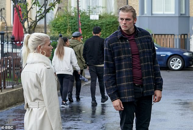 Oh dear! First look snaps show Lola issuing a stark warning to Peter that Jay is out for revenge after learning about their affair, setting the stage for a dramatic showdown