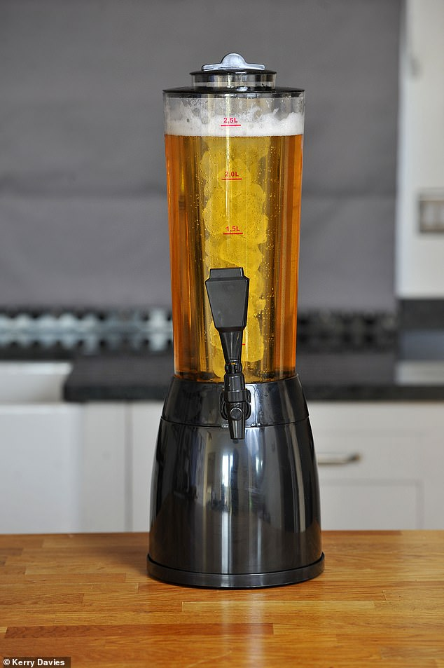 Capacity: 2.5 litres (4.25 pints). Beers: Whatever you choose. Cost per pint: £2.45 (for Peroni)