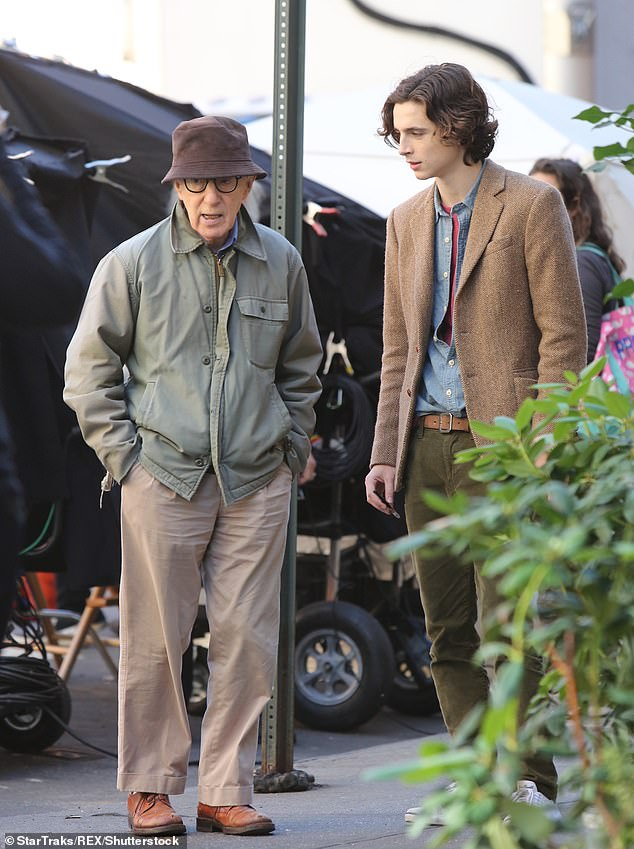 In the open: His Woody Allen collaboration A Rainy Day In New York was released in the US and across the globe this year, after Amazon initially refused to release it in the wake of Dylan Farrow's renewed allegations that Allen sexually assaulted her as a child; shown in 2017