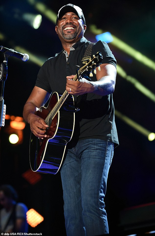 Going solo: The 54-year-old said in the interview, obtained by People: 'I'd just come from the Hootie thing, and so, when I came here and said I would do a radio tour, they were all excited. I was doing what my label wanted me to do' (pictured in June, 2015)