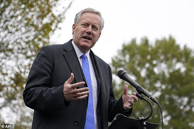 Mark Meadows, 61, has tested positive for coronavirus, it emerged on Friday