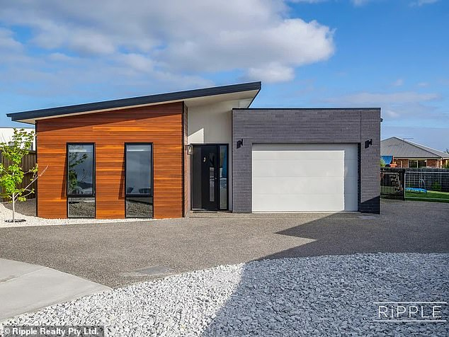 In Hobart the best suburb to buy a home rather than rent is Rokeby (pictured, house for sale in Rokeby), which has an astonishing difference of more than $400 every month