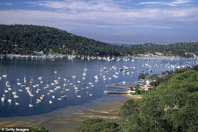 A man has been pulled from the water after horrified locals spotted his lifeless body floating face down (pictured, Newport Anchorage Marina in Pittwater on Sydney's Norther Beaches)
