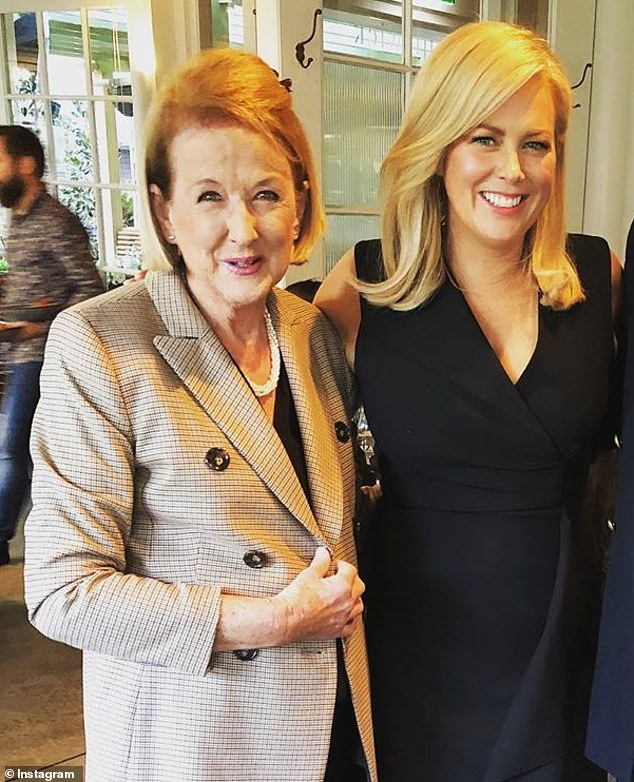 'We are very sad': Sam Armytage revealed on Saturday that her mother Libby has passed away. (Pictured: Libby with Sam)