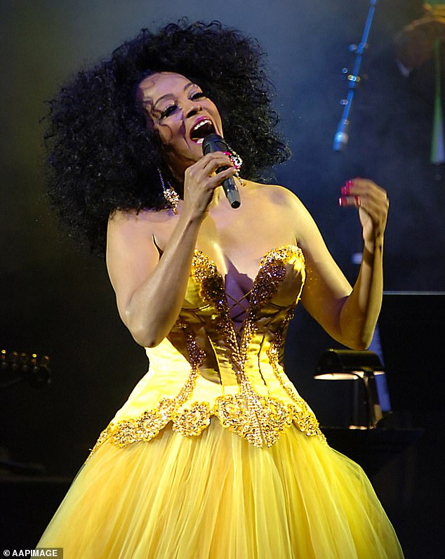 Diana Ross' diva behaviour: An Australian concert promoter has revealed the singing icon's unique requests when performing for the 2006 Melbourne Cup Carnival (pictured), during an interview with Australian newspaper the Herald Sun on Saturday