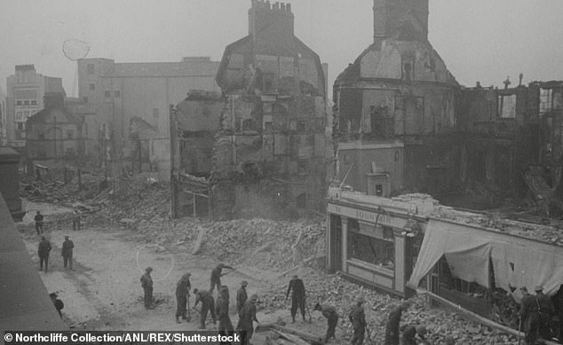 British towns cities (Plymouth, pictured) that saw huge death tolls from World War II bombing raids are still deprived 75 years after the war ended, researchers have found