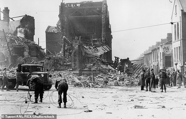Data showed Liverpool (pictured after the Blitz) had the highest income deprivation affecting children index and had 28.2 per cent of children eligible for free school meals