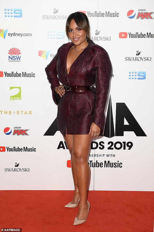 Talent: The album titled The Makarrata Project not only features Jessica (pictured in November, 2019) but also other Indigenous artists such as Troy Cassar-Daley, Alice Skye, Tasman Keith, Dan Sultan and Kev Carmody