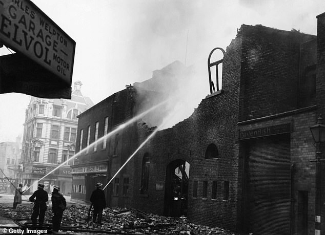 Hull (pictured after the Blitz) scored 29.8 on the income deprivation index - coming in just behind Liverpool - and has 26.2 per cent of children with free school meals eligibility
