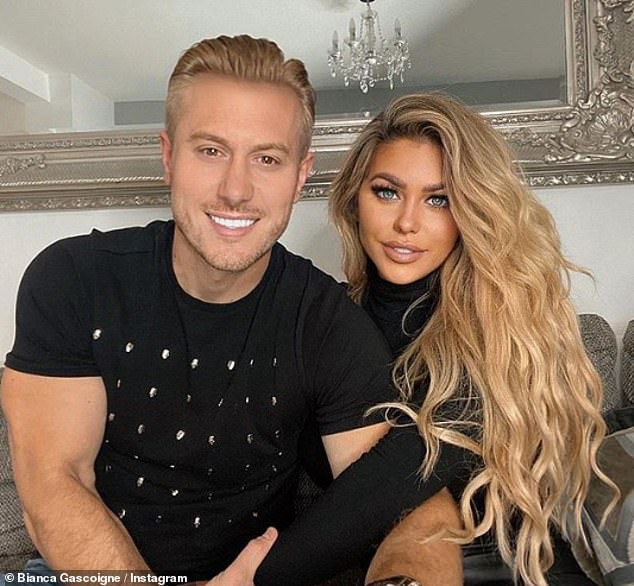 Whirlwind romance:Bianca recently revealed that she moved in with her personal trainer boyfriend Kris Boyson (pictured), who is glamour model Katie Price's ex, after their first date