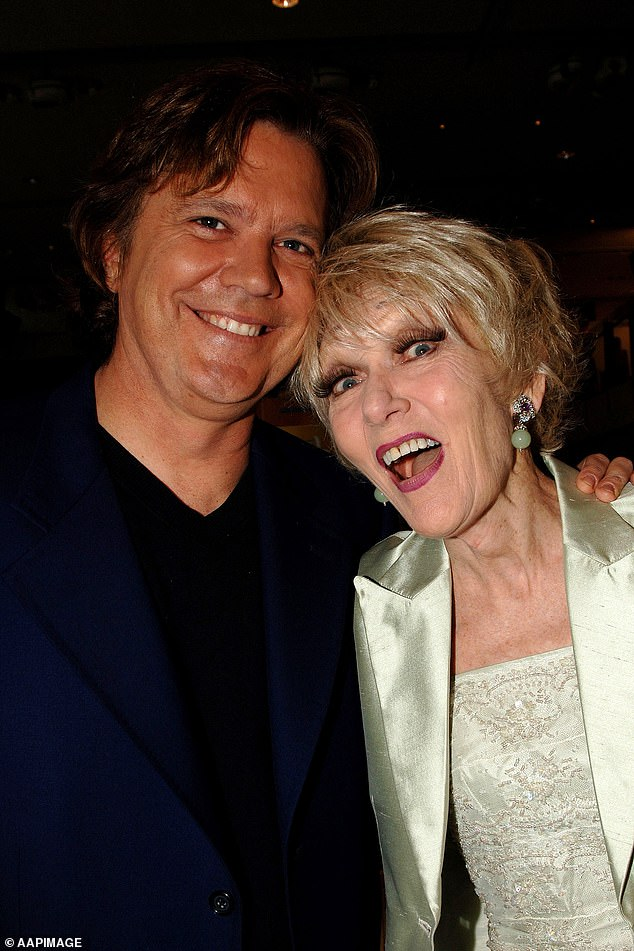 Mark Holden (left) and Jeanie Little at the 2007 Logie Awards nominations in Sydney, Monday, April 2, 2007
