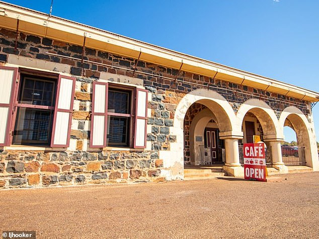 The cafe at Cossack is run by Shannon Ervine, partner of the town's only other inhabitant, its caretaker. Thousands of tourists pass through each year, however
