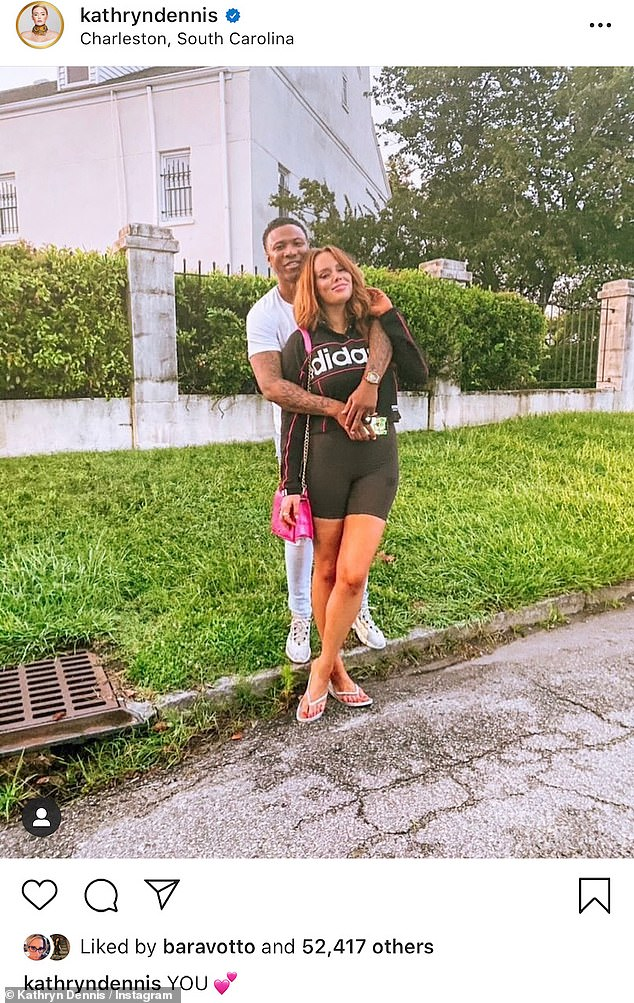 Going public: Dennis and Ravenell went Instagram official on October 23