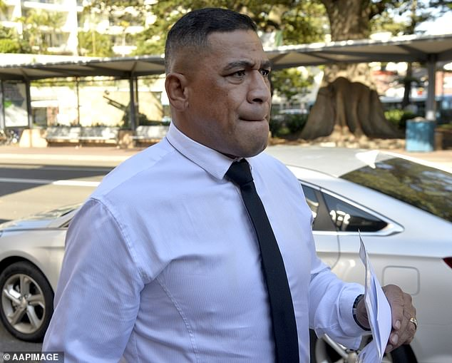 The 26-year-old's father John Hopoate (pictured) infamously inserted his finger into the backsides of three North Queensland Cowboys players while playing for the Wests Tigers in 2001.