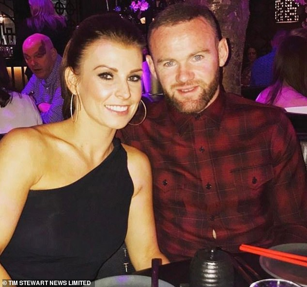 Friend turned foe: Rebekah is expected to face Coleen Rooney, 34, pictured with Wayne, in court this November, one year after she was accused her former friend of leaking stories about her to the press, something she denies