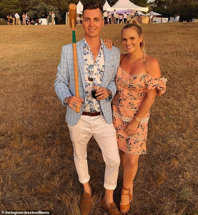 Oscar Ledlin (left with girlfriend Jessie)used direct messaging on Instagram to sell $6million in commercial property during the coronavirus lockdown