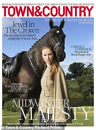 Candid: While on the cover of Town & Country magazine, Erin also admitted that leaving behind her iconic role in The Crown `` it's kind of like crying someone at the end ''