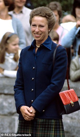 Grateful: 'She gave me a form of bravery,' said Erin (pictured left: Princess Anne in Balmoral, Scotland in 1983)