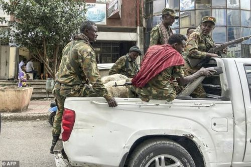 Members of the Amhara militia are fighting  alongside federal and regional forces in Tigray