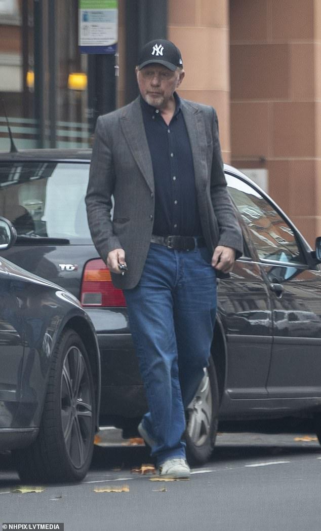 Boris Becker is seen visiting the C restaurant in London despite lockdown restrictions