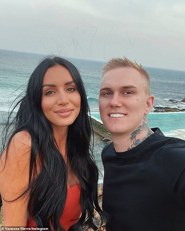 All over:Vanessa's relationship with Bernard comes as quite a surprise to fans, as she was in an on/off relationship with Luke Erwin (right) until only recently