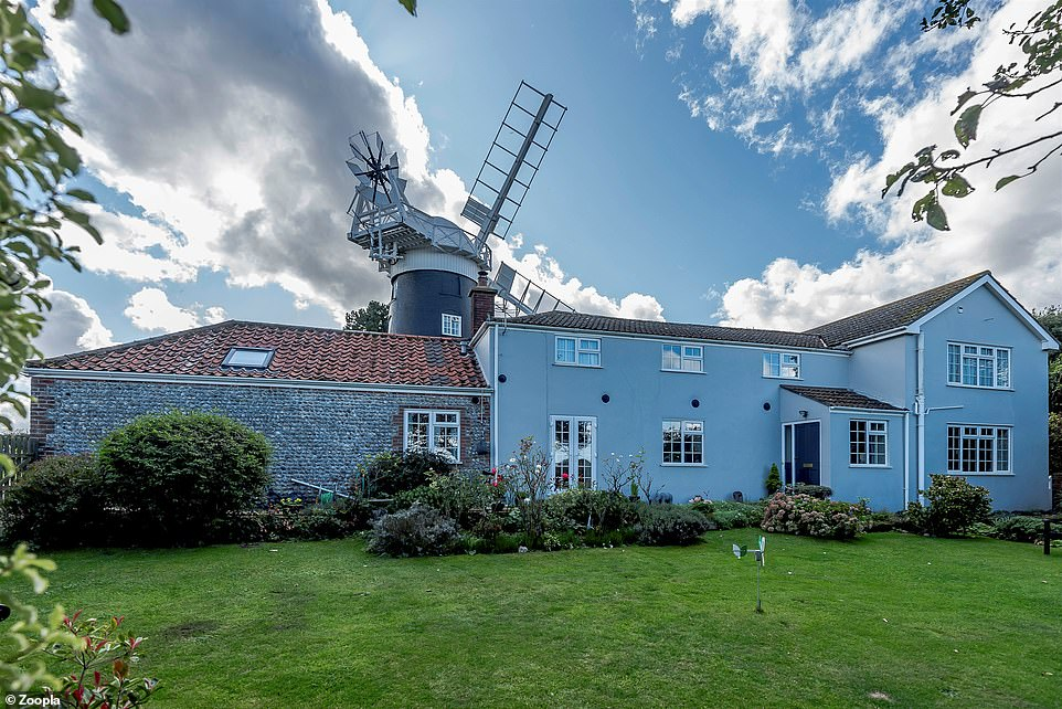 Included in the sale: A four-bedroom cottage sits alongside the Grade II listed former corn mill