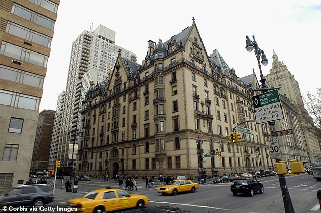 Devastating: Artist John was shot and killed aged 40 by Mark Chapman outside the Dakota apartment complex in New York City (pictured in 2015) on December 8th, 1980