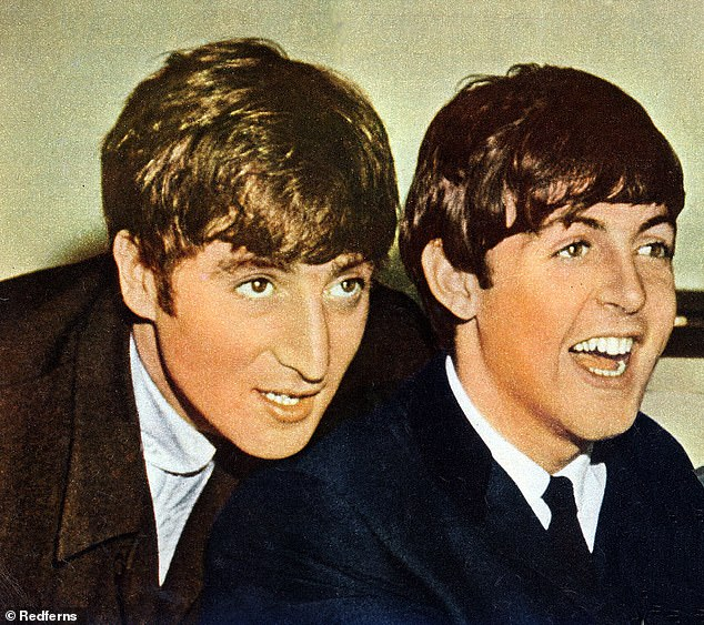 Old times: The rock icon recently revealed he still turns to former bandmate John Lennon for advice when writing new songs (pictured in 1963)