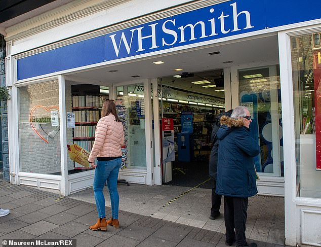 WH Smith is to shut 25 High Street stores in a move that puts another 200 jobs at risk after it swung to a £280m loss