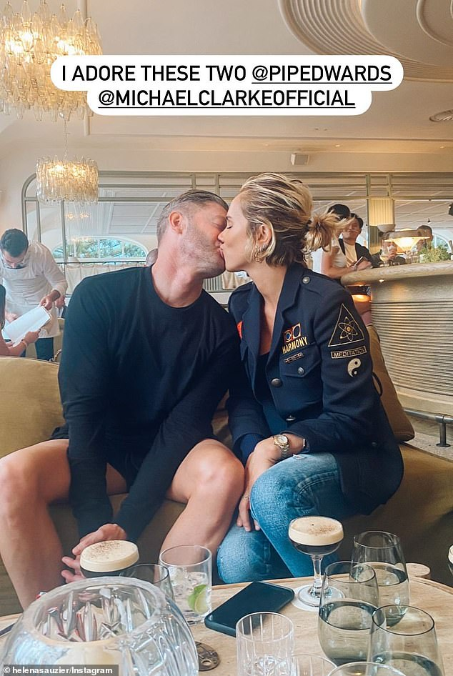 Romance: Pip has become a media mainstay since dating cricketer Michael Clarke. (Pictured together)