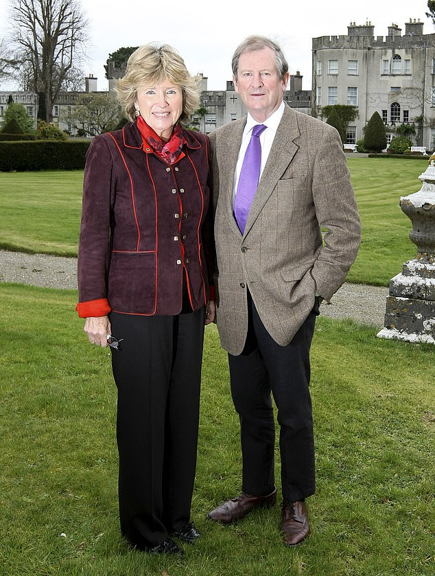 Tribute:Olda is the widow of the 29th and last Knight of Glin, Desmond FitzGerald, who passed away aged 74 in 2011 (pictured before his death in 2011)