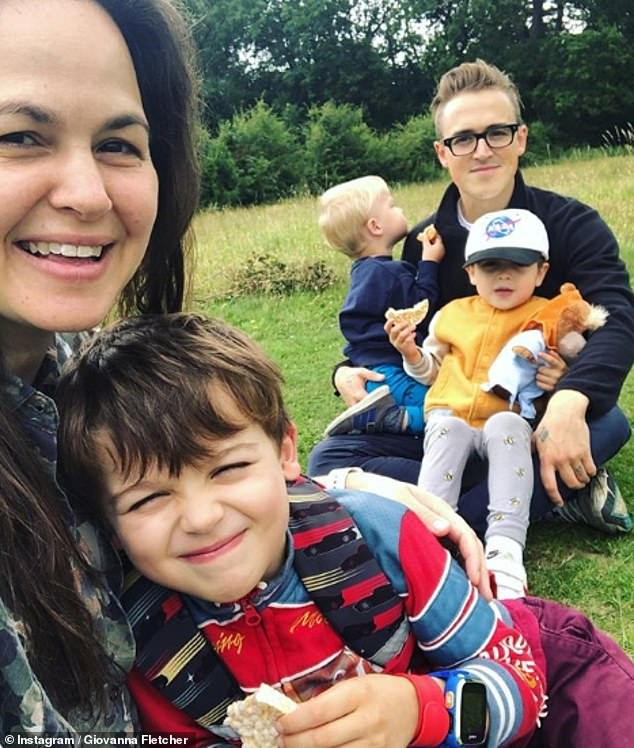 Family: Giovanna is married to Tom Fletcher of McFly and they have three children, Buzz, six, Buddy, four, and Max, two