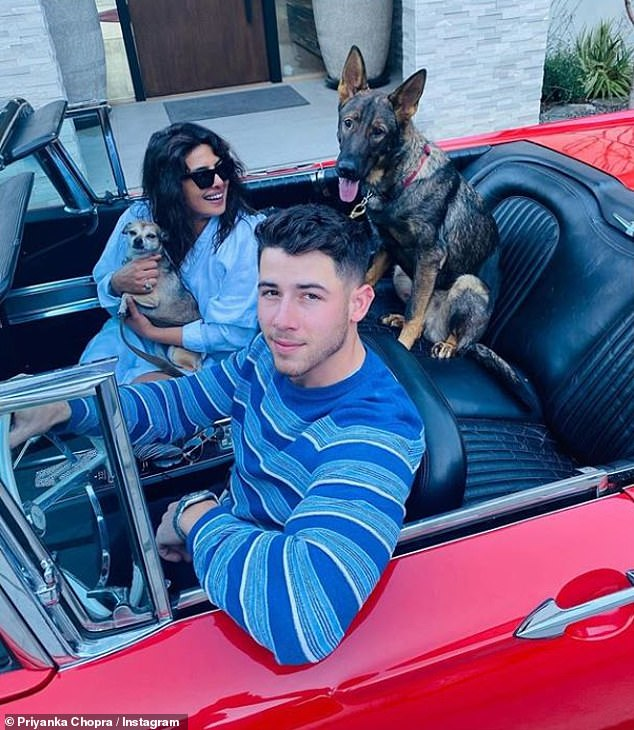 Proud uncle: Earlier this week, Joe's brother Nick Jonas, who is married to Priyanka Chopra, gushed over his baby niece, telling Entertainment Tonight : 'She's the best'