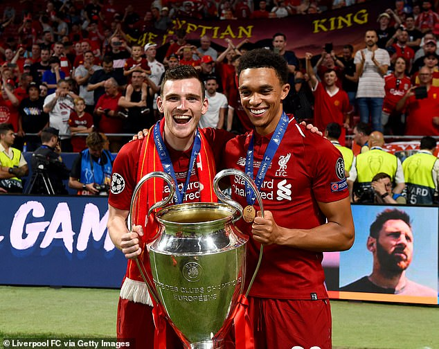 Robertson (L) claims qualifying with Scotland is up there by winning the Champions League