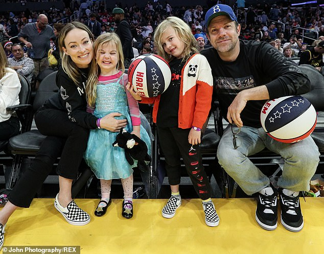 Art of co-parenting: The couple reportedly underwent an amicable split, and they've since been adjusting to co-parenting their two children (pictured in February, 2020)