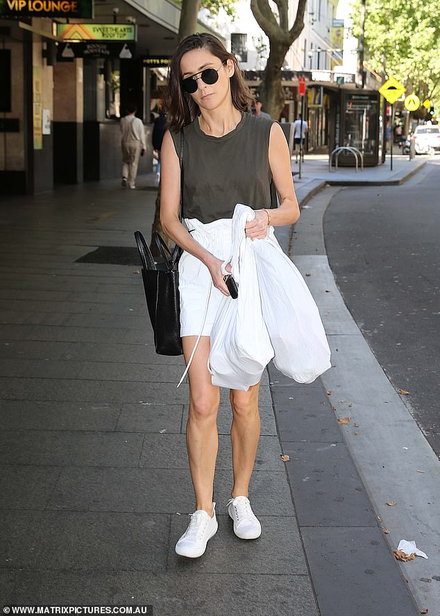 Alexi Baker (pictured) was spotted in Sydney's King Cross on Saturday afternoon, at the exact same time Mr Marks had informed the company of his resignation