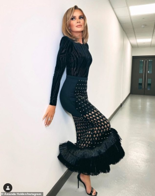 Wow: Amanda Holden looked amazing on Friday night as she took to Instagram to share a hot new snap