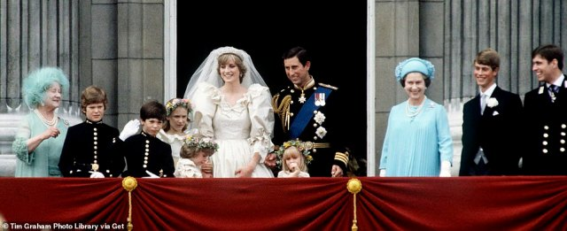 Dramatic:So as Her Majesty battles to keep her family together during a time of great tension - and as the series is released on Sunday, 15th November - here are the top five moments to look out for (Princess Diana's wedding pictured in 1981)