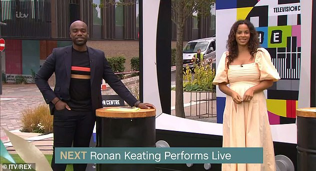 Hosts with the most: Amid calls for the ITV show to hire permanent non-white stars to present the show, ex-Saturdays singer Rochelle also presented with Ore Oduba (L) during the summer