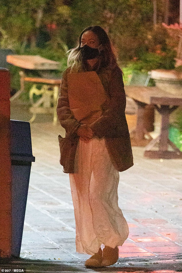 Back on the market: The actress was spotted leaving a store in Los Angeles