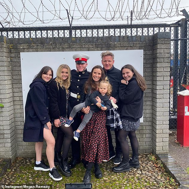 Family:However, the chef and his family (pictured) had retreated to their second home at the start of the lockdown, which was not against the government guidelines at the time