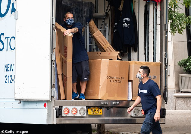 The New York Post reports thatNew York City dwellers filed 295,103 change of address requests from March 1 through October 31 - but the number is likely past 300,000 in actuality