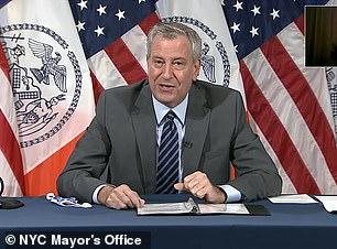 Pictured: Mayor Bill de Blasio