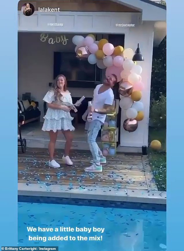Baby on board: The two announced they were expecting their first child in September, before revealing that they were having a baby boy weeks later