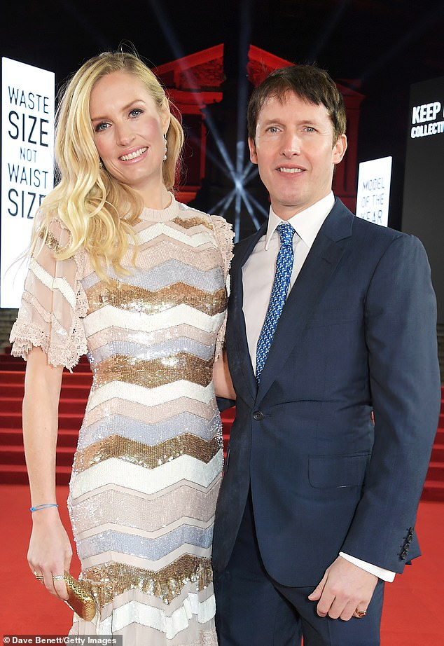 James Blunt, pictured with his wife Sofia Wellesley, the eighth Duke of Wellington¿s granddaughter has been spending lockdown at their Ibiza villa
