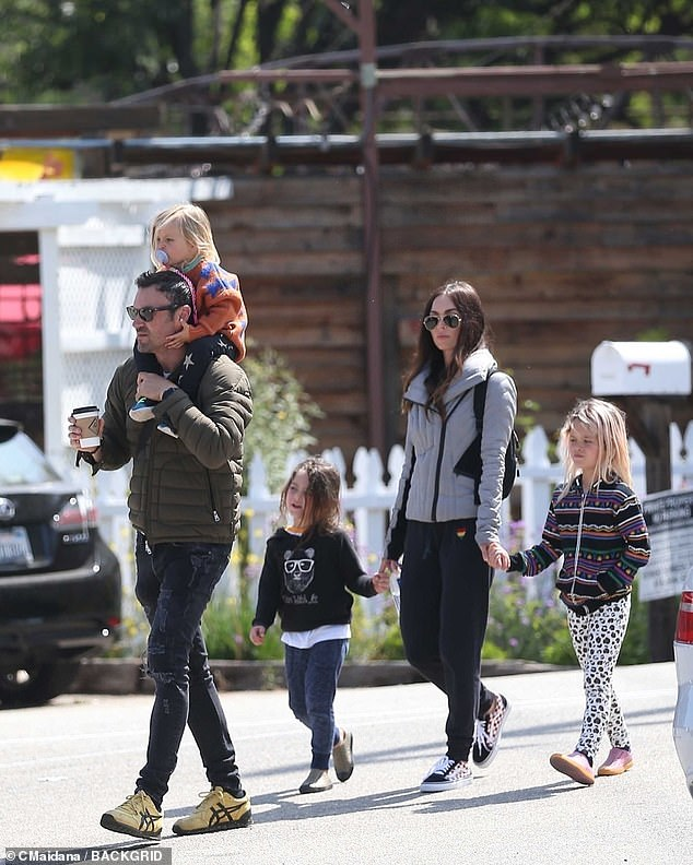 No more:Green and his wife, actress Megan Fox, separated late last year into this spring, 10 years after getting married and having three sons; seen here in May 2019