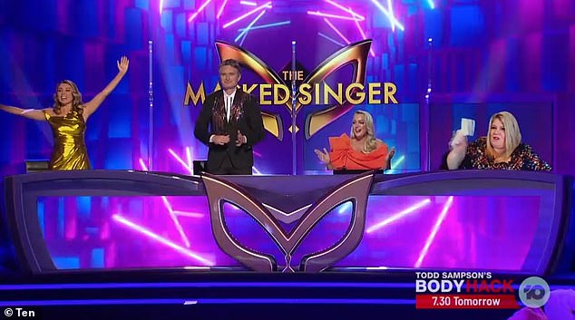 2020 judging panel: In addition to Urzila (right), the judging panel for the show comprises singer Dannii Minogue (left), comedian Dave (centre left) and radio host Jackie 'O' Henderson (centre right)